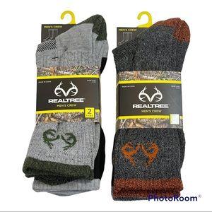 🆕 Mens Realtree Crew Socks 4 Pair Shoe Size 6-12